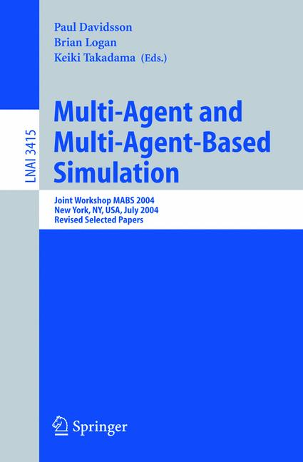 Cover of 'Multi-Agent and Multi-Agent-Based Simulation'