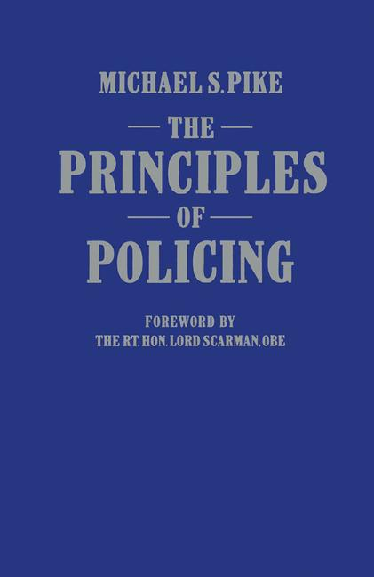 Cover of 'The principles of policing'
