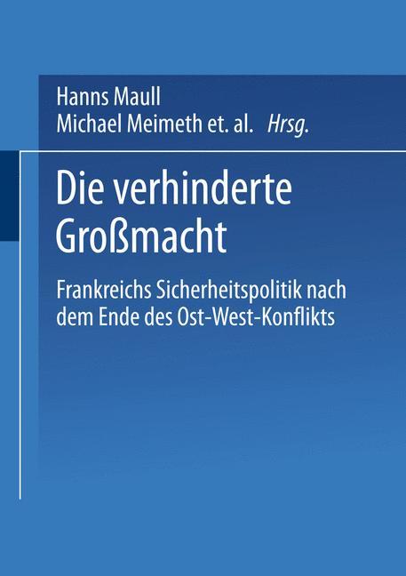 Cover of 'Die verhinderte Großmacht'