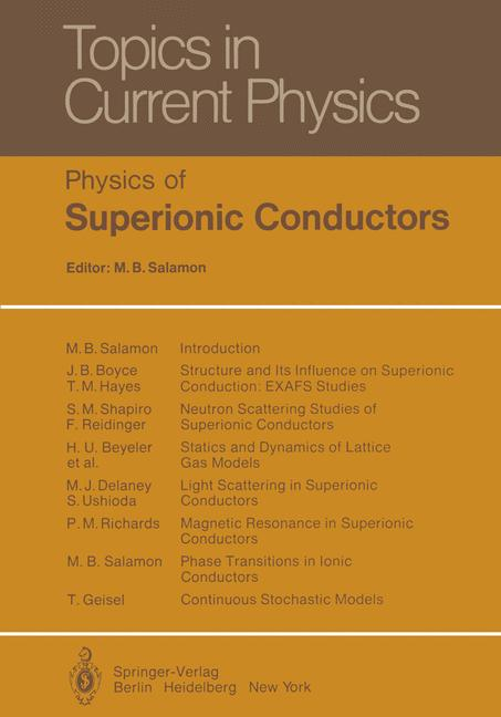 Cover of 'Physics of Superionic Conductors'