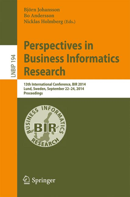 Cover of 'Perspectives in Business Informatics Research'