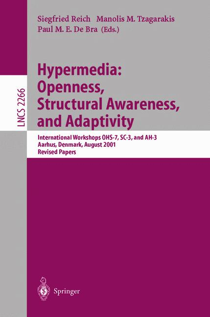 Cover of 'Hypermedia: Openness, Structural Awareness, and Adaptivity'