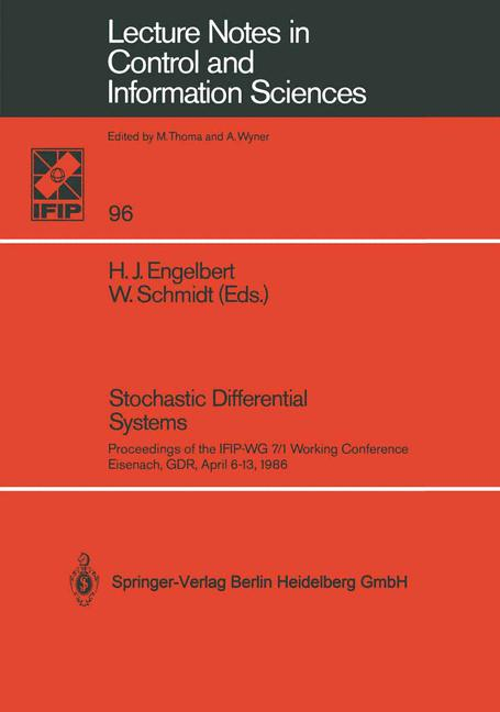 Cover of 'Stochastic Differential Systems'