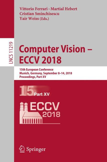 Cover of 'Computer Vision – ECCV 2018'