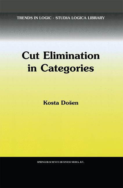 Cover of 'Cut Elimination in Categories'