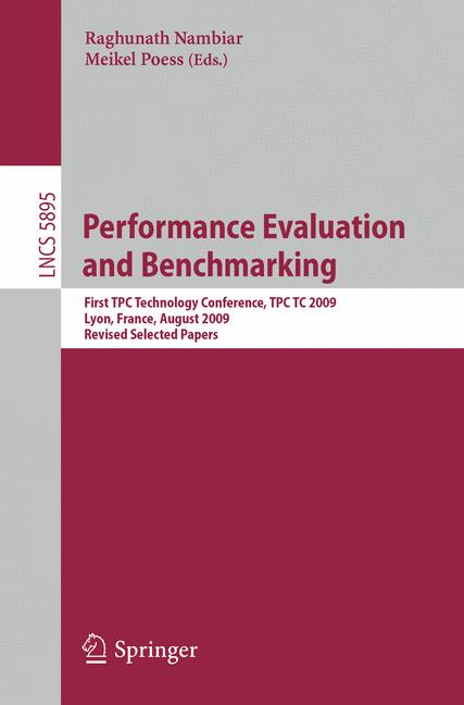 Cover of 'Performance Evaluation and Benchmarking'
