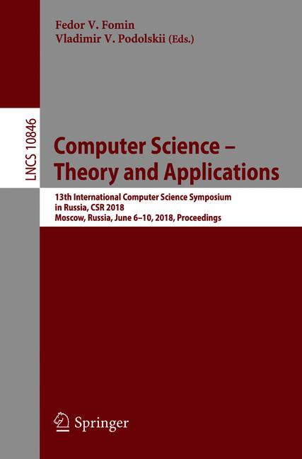 Cover of 'Computer Science – Theory and Applications'