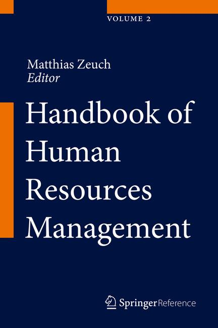 Cover of 'Handbook of Human Resources Management'