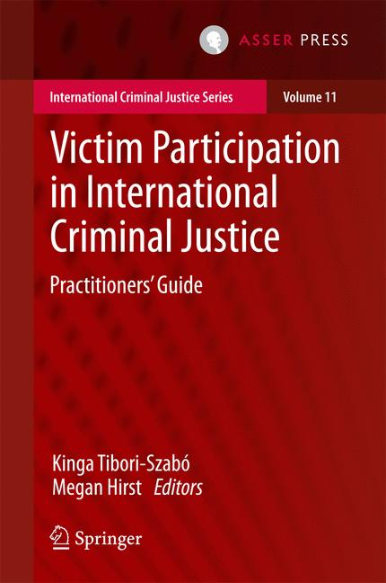 Cover of 'Victim Participation in International Criminal Justice'