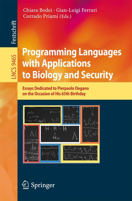 Cover of 'Programming Languages with Applications to Biology and Security'