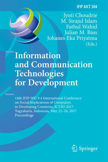 Cover of 'Information and Communication Technologies for Development'
