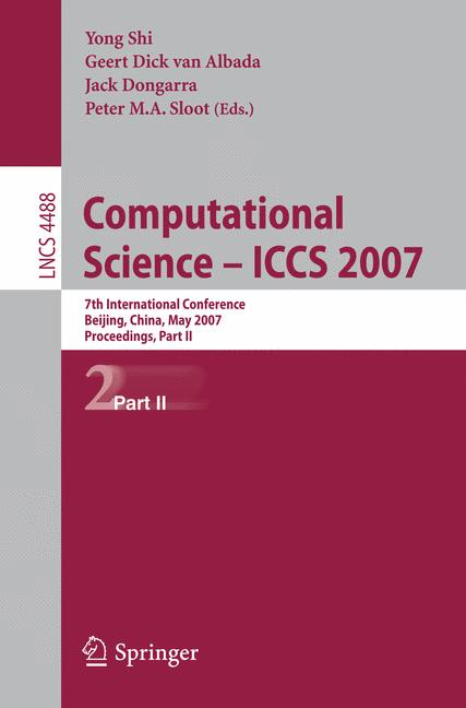 Cover of 'Computational Science – ICCS 2007'