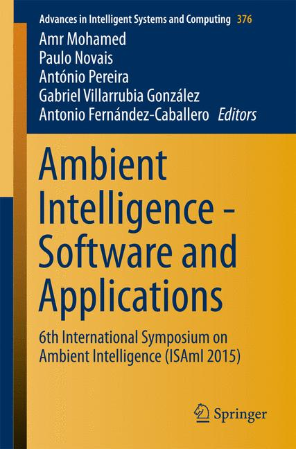 Cover of 'Ambient Intelligence - Software and Applications'