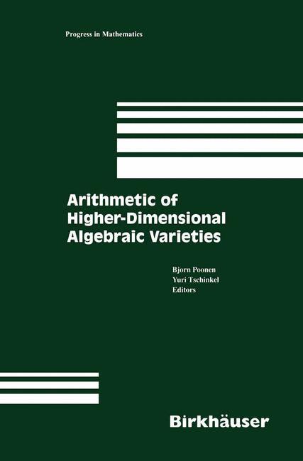 Cover of 'Arithmetic of Higher-Dimensional Algebraic Varieties'