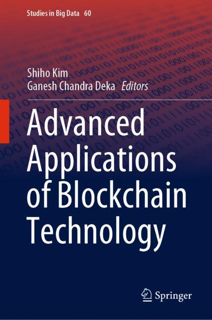 Cover of 'Advanced Applications of Blockchain Technology'