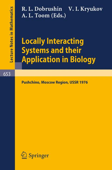 Cover of 'Locally Interacting Systems and Their Application in Biology'