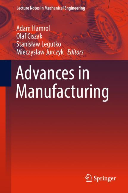 Cover of 'Advances in Manufacturing'