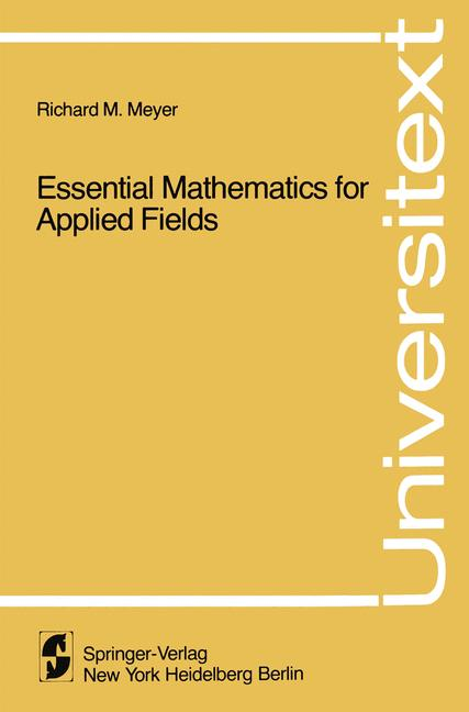 Cover of 'Essential Mathematics for Applied Fields'