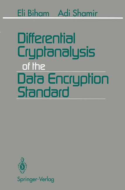 Cover of 'Differential Cryptanalysis of the Data Encryption Standard'