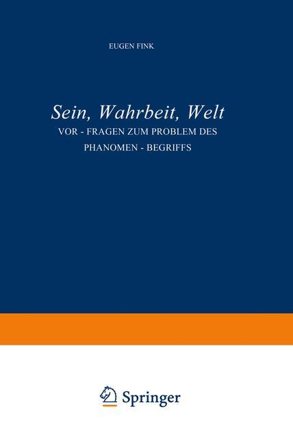 Cover of 'Sein, Wahrheit, Welt'