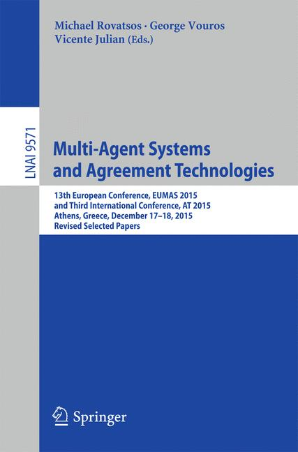 Cover of 'Multi-Agent Systems and Agreement Technologies'