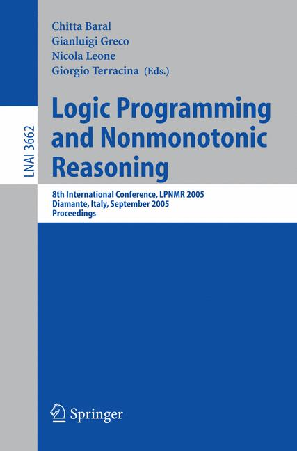 Cover of 'Logic Programming and Nonmonotonic Reasoning'