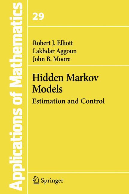 Cover of 'Hidden Markov models : estimation and control'
