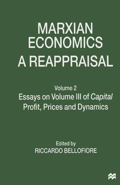 Cover of 'Marxian Economics: A Reappraisal'