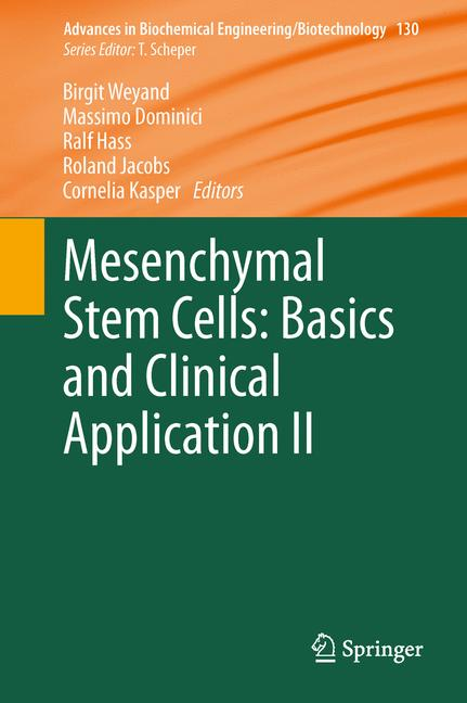 Cover of 'Mesenchymal Stem Cells - Basics and Clinical Application II'