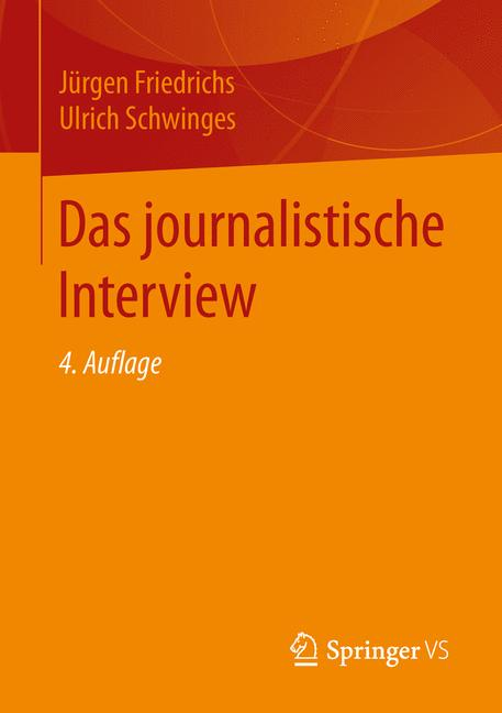Cover of 'Das journalistische Interview'