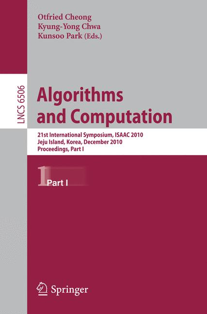 Cover of 'Algorithms and Computation'