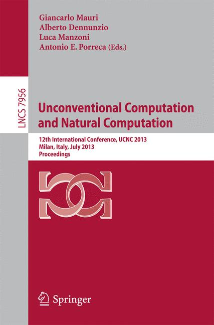 Cover of 'Unconventional Computation and Natural Computation'