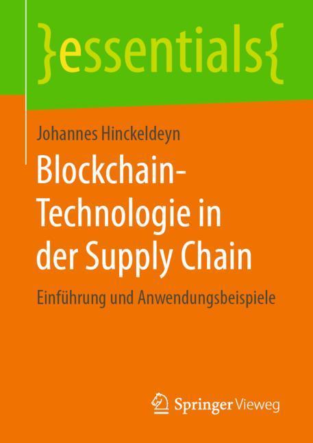 Cover of 'Blockchain-Technologie in der Supply Chain'