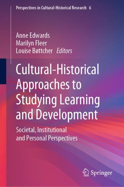 Cover of 'Cultural-Historical Approaches to Studying Learning and Development'