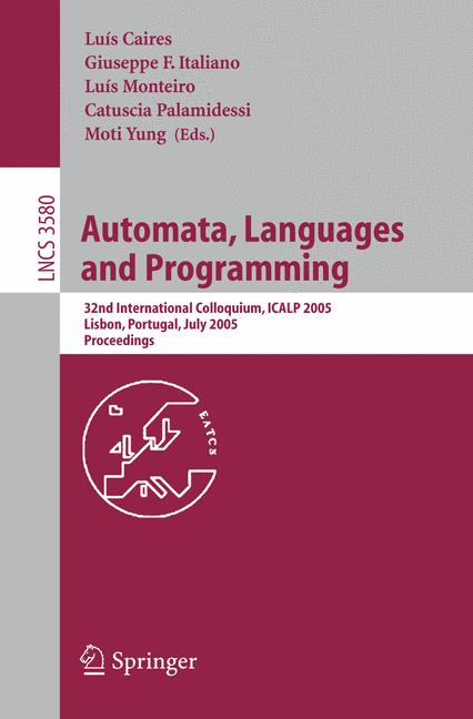 Cover of 'Automata, Languages and Programming'
