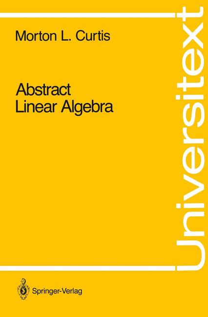 Cover of 'Abstract Linear Algebra'