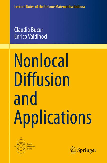 Cover of 'Nonlocal Diffusion and Applications'