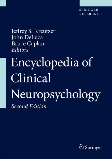 Cover of 'Encyclopedia of Clinical Neuropsychology'
