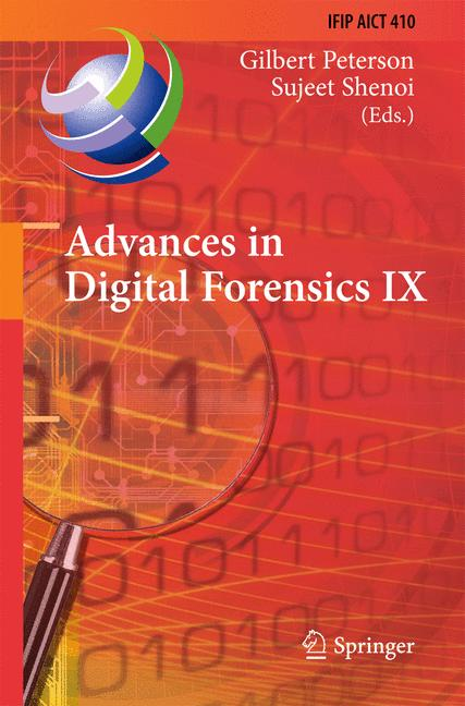 Cover of 'Advances in Digital Forensics IX'
