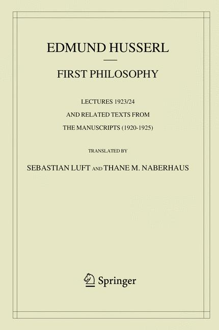 Cover of 'First Philosophy'