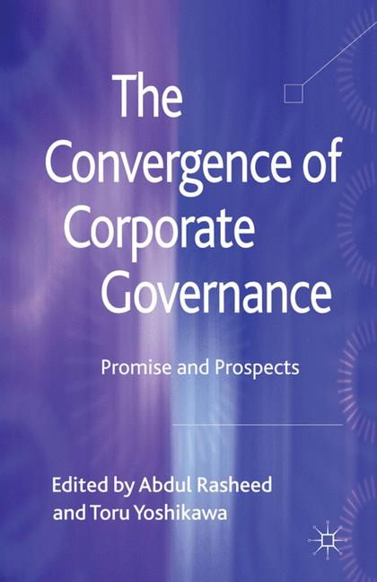 Cover of 'The Convergence of Corporate Governance'