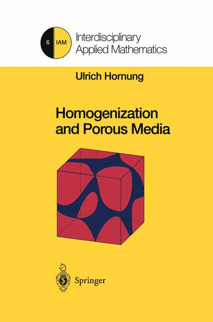 Cover of 'Homogenization and Porous Media'