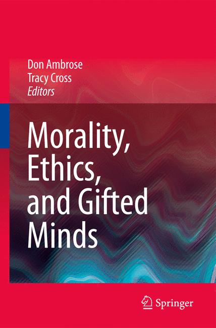 Cover of 'Morality, Ethics, and Gifted Minds'