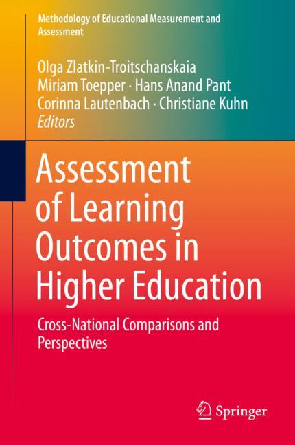 Cover of 'Assessment of Learning Outcomes in Higher Education'