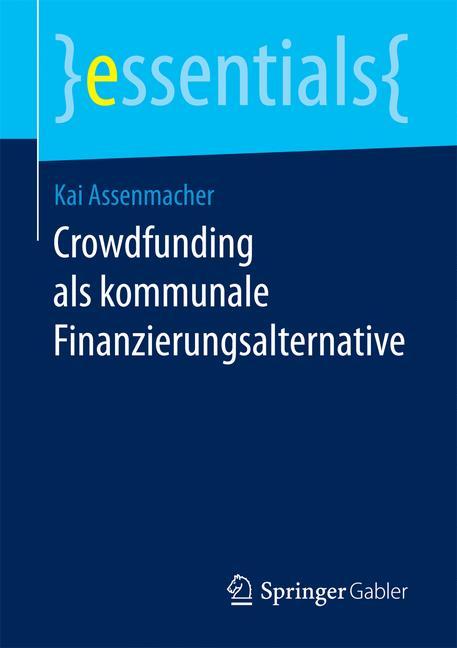 Cover of 'Crowdfunding als kommunale Finanzierungsalternative'
