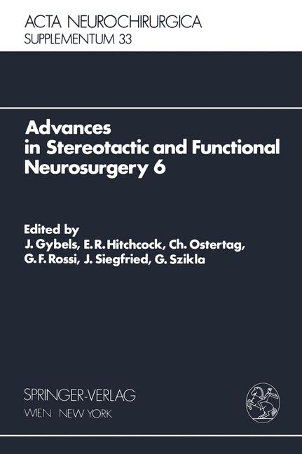 Cover of 'Advances in Stereotactic and Functional Neurosurgery 6'
