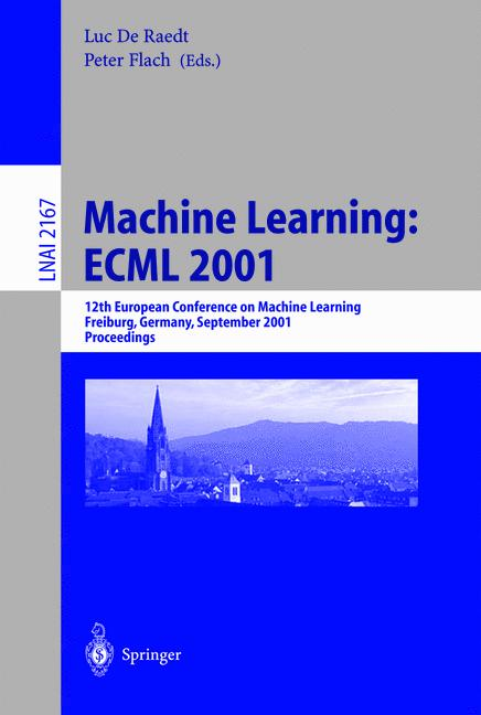 Cover of 'Machine Learning: ECML 2001'