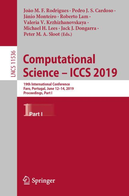 Cover of 'Computational Science – ICCS 2019'