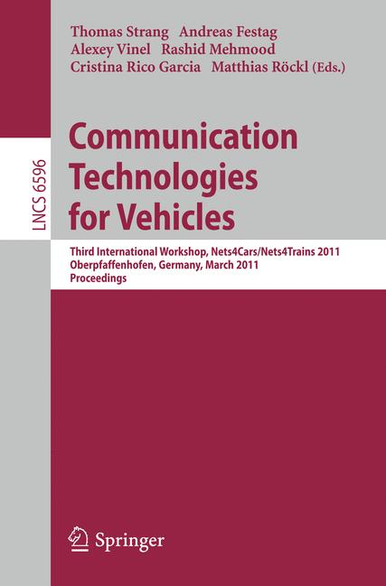 Cover of 'Communication Technologies for Vehicles'