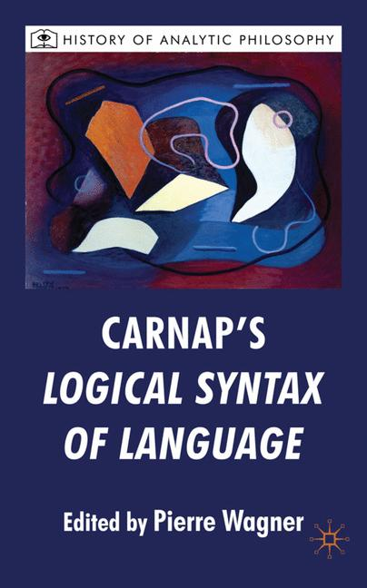 Cover of 'Carnap's Logical Syntax of Language'